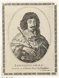 Portrait of Louis XIII, king of France in oval