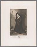 Clara of Assisi kneeling in prayer