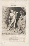 Caricature of Oedipus at the Sphinx
