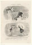 Two caricatural depictions of parliamentarians