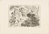 Four putti as personifications of the arts and sciences