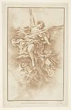 Angel with three putti in clouds