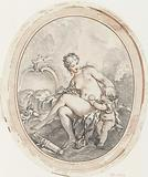 Venus and Amor in oval