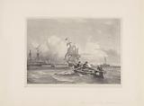 Rowing boat at sea