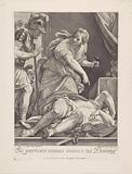 Jael shows Barak the slain Sisera
