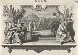 Personifications of Life and Death flank a funeral procession