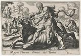Hercules fighting with Acheloüs