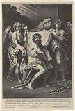 Christ as Man of Sorrows with two angels and two cherubs