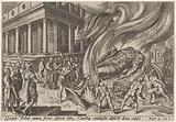Jehu destroys the temple and the statue of Baal