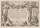 Titelprent van Johann Gelle, Tyrocinia artis pictoriae caelatoriae, 1639