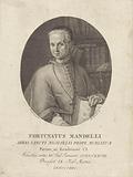 Portrait of cleric Fortunatus Mandelli