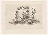 Woman and two putti