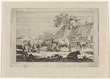 Barnyard with cows