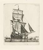 Sailing ship at anchor