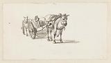 Two horses with carriages