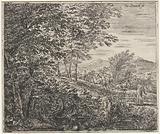 Landscape with spinster