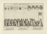 Funeral procession with scholars and nobles
