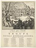 Cartoon on James II and Louis XIV as Tightrope Walkers, 1689