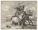 Sword fight between two riders