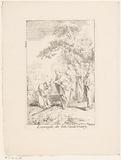 Christ heals the blind one of Bethsaida