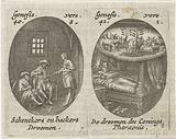 Joseph explains dreams of cupbearer and baker / Pharaoh's dream