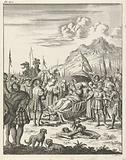 Fulco V, Count of Anjou and King of Jerusalem, dies lying on a stretcher