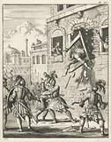 Henry II of Champagne crashes by breaking a window frame