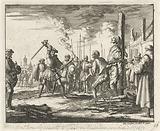 Anthonie IJsbaarts in Tielt on the stake, 1573