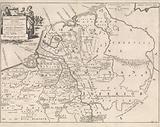 Historical map of the Netherlands at the time of the Frisians, Franks and Saxons I