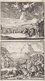 Legislation on Mount Sinai / Moses explains the Ten Commandments to the elders