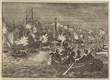 Spanish fleet on the Scheldt captured and burned by the Dutch, 1631