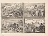 Don Pedro, regent of Portugal, after marrying Maria, Duchess of Aumale, goes from Lisbon to Alcantara and is chased by …