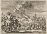 Louis II of Bourbon-Condé burns the bridge of Strasbourg, 1672