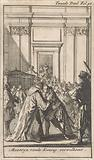 King Louis XIV greets Cardinal Mazarin