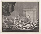 Drunk bishops sleeping in a room