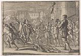 Masaniello's corpse is dragged through the streets of Naples by the furious insurgents, 1647