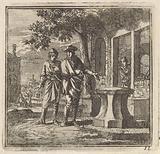 Two men near an anvil