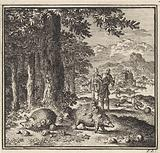 Three hedgehogs on the edge of a forest