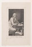 Portrait of Friedrich von der Trenck, writing at the table
