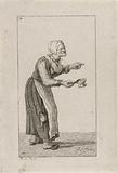 Standing woman with a fire test