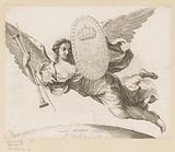 Female figure with wings and coat of arms of Jules Mazarin