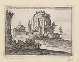 Remains of the Temple of Minerva Medica in a landscape