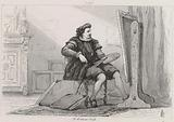 Painter sitting in front of his easel, sixteenth century