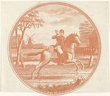 Postillion on horseback
