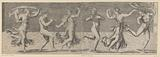 Dancing satyr and maenads