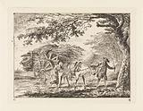 Man and woman with a fully loaded ox cart