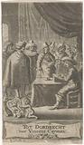 Merchant at writing table