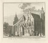 View of the church and the town hall in Woerden