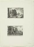 Landscape with ruins and Arch of Constantine in Rome