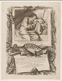 Title print with drawing by Guercino